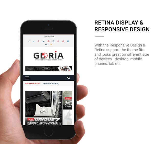Download Gloria – Responsive eCommerce News Magazine Newspaper WordPress Theme nulled 4