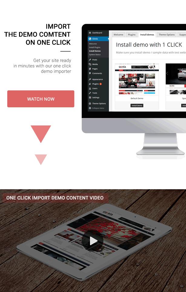 Download Gloria – Responsive eCommerce News Magazine Newspaper WordPress Theme nulled 6