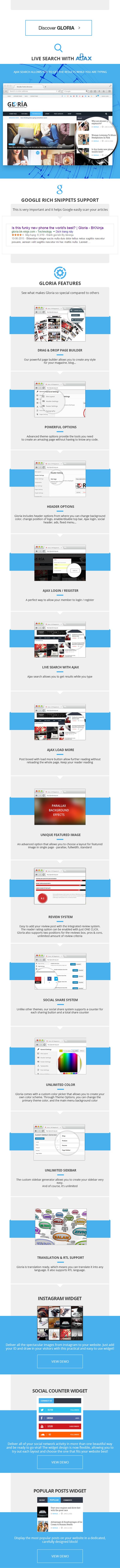 \ Gloria – Multiple Concepts Blog Magazine WordPress Theme Nulled Free Download gloria 2