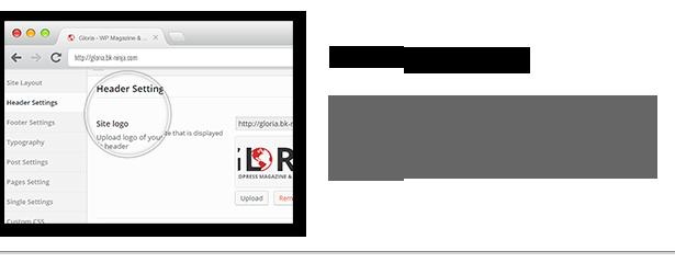 Download Gloria – Responsive eCommerce News Magazine Newspaper WordPress Theme nulled header settings