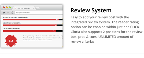 Download Gloria – Responsive eCommerce News Magazine Newspaper WordPress Theme nulled review system