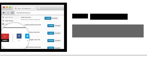 Download Gloria – Responsive eCommerce News Magazine Newspaper WordPress Theme nulled sharing system